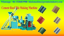 cement / concrete roof tiles making machine for sale with low cost in China
