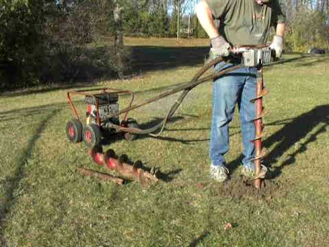 Little Beaver One Man 5hp Briggs Mechanical Earth Auger Post Hole
