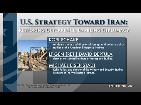 U.S. Strategy Toward Iran: Restoring Deterrence, Enabling Diplomacy