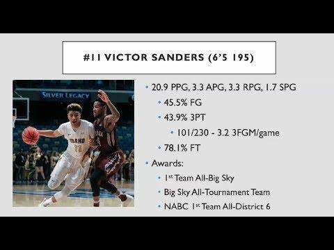 Victor Sanders (6'5/195 G), University of Idaho: 2016-2017 Highlight Film
