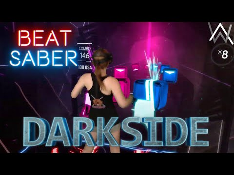 Beat Saber || Darkside by Alan Walker (Expert) First Attempt || Mixed Reality
