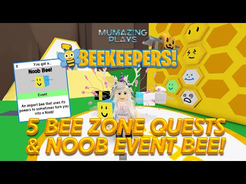 Roblox BEEKEEPERS! 5 Bee Zone Quests NOOB Event Bee & Codes!