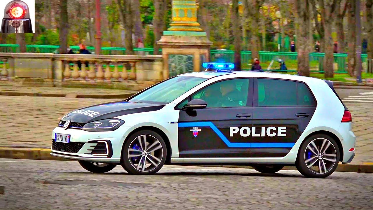 nouvelle voiture de police en urgence sir ne am ricaine vw golf gte paris youtube. Black Bedroom Furniture Sets. Home Design Ideas