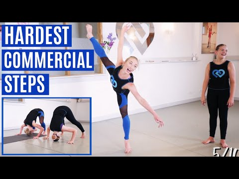 CLAUDIA ATTEMPTS THE HARDEST COMMERCIAL STEPS?!