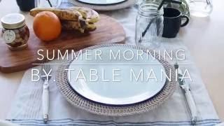 夏の朝をさわやかに迎えるテーブルコーディネート テーブルコーディネート 検索動画 4