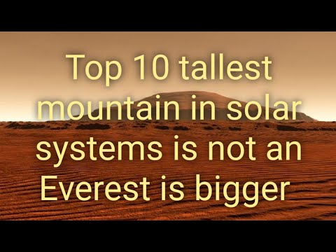 highest mountain in the solar system - photo #24
