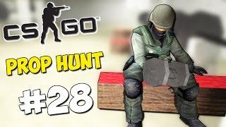 МИХАКЕР В СПОРТЗАЛЕ - CS:GO Prop Hunt #28