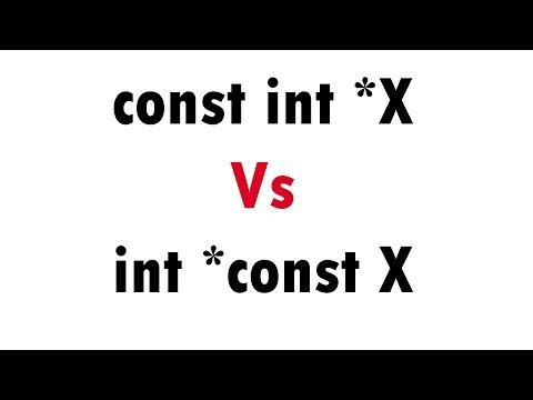 Const Int *X Vs Int *const X