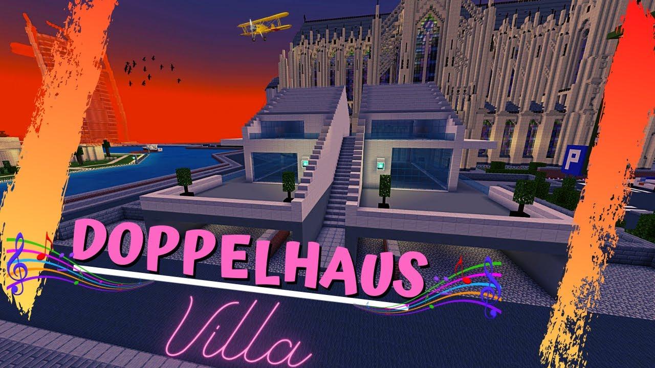 Minecraft Doppelhaus Villa 21 🔵 Dach drauf verkauft