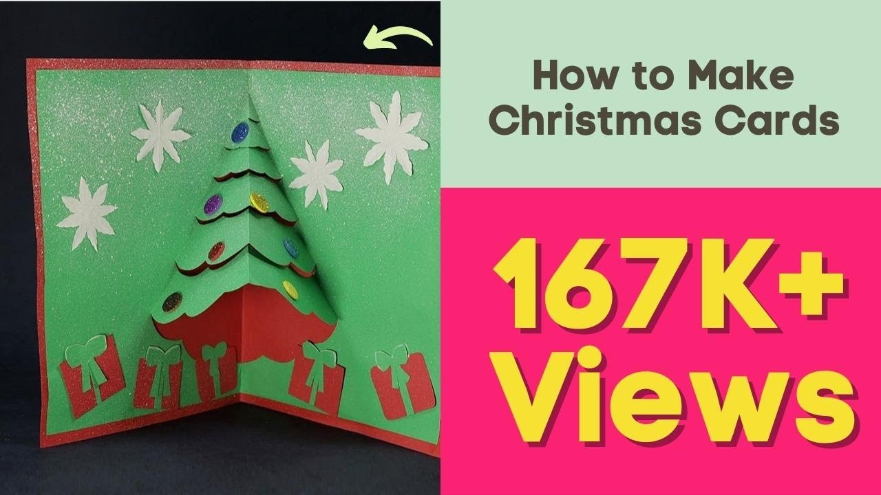 diy pop up christmas card how to make christmas cards youtube - Create Christmas Cards