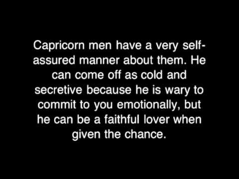 Understanding a capricorn man in love