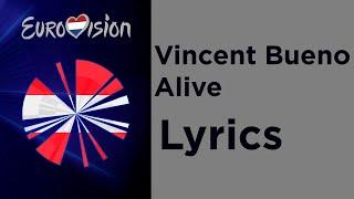 Vincent Bueno - Alive (Lyrics) Austria 🇦🇹 Eurovision 2020