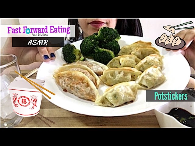 Asmr Super Crispy Potstickers Eating Show Mukbang Eating Sound Fast Forward Eating