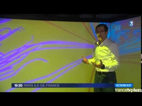 French TV - France 3 News - Sun Studies in TechViz CAVE using TechViz XL and CEI EnSight