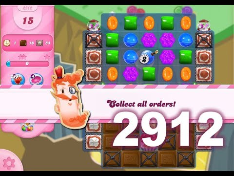 Candy Crush Saga Level 2912 (3 stars, No boosters)