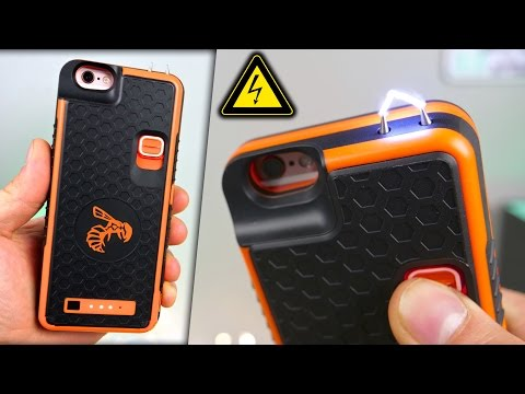 Thumbnail: Badass iPhone Stun Gun Case! + Electrocuting Myself⚡️🐝