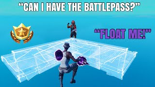 Gifting My Fans THE BATTLEPASS If They Can Float Me...