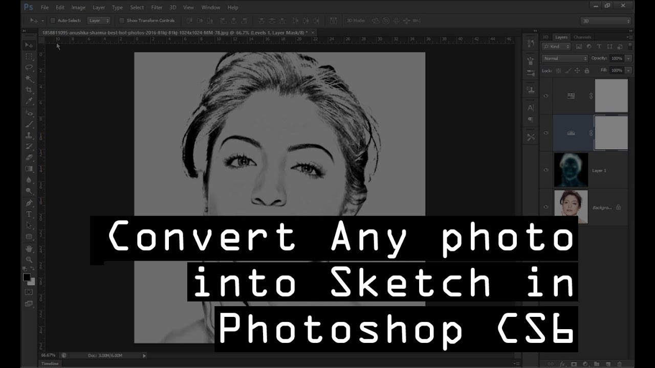 How to convert image into sketch in photoshop cs6
