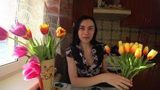 Искусственные цветы с AliExpress Обзор и отзыв на товар Тюльпаны????