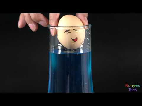 How to Make an Egg That suspended in water?
