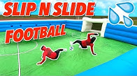 GIANT SLIP N SLIDE FOOTBALL! ⚽️💦 | BILLY VS JEZZA