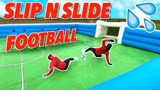 GIANT SLIP N SLIDE FOOTBALL! ⚽️💦 | BILLY WINGROVE VS JEREMY LYNCH