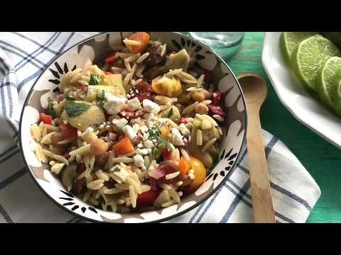 mediterranean orzo salad | orzo salad recipe | salad recipes