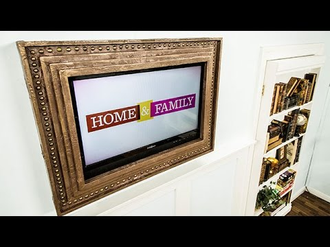 How To Mark Steines Diy Flatscreen Tv Frame Hallmark Channel