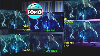 Epic 6 TVs Side by Side: LG CX vs the 5 Best TVs!
