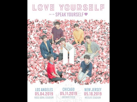 BTS LOVE YOURSELF: SPEAK YOURSELF TOUR CHICAGO DAY ONE FLOOR VIEW (FIRST KPOP CONCERT)