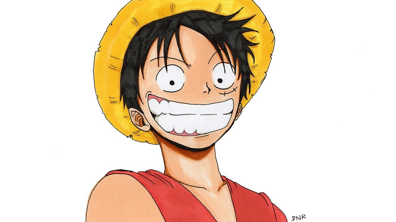 Como dibujar a luffy one piece how to draw luffy one for One piece dibujos