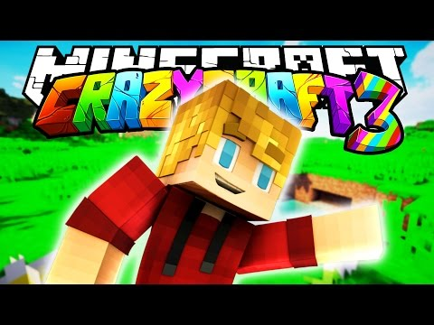 Minecraft Crazy Craft 3.0: WELCOME TO CRAZYCRAFT 3 #1