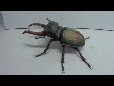 DIY: How To Make A Spectacular And Amazing Paper Mache Stag Beetle Sculpture