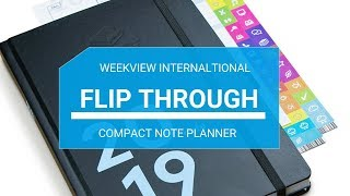 weekview note 2019 planner flip through