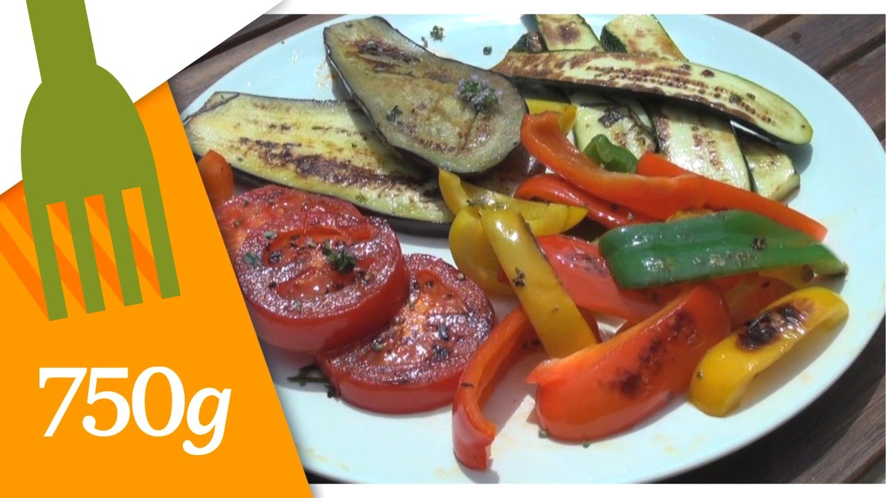 recette de l gumes grill s la plancha 750 grammes youtube. Black Bedroom Furniture Sets. Home Design Ideas