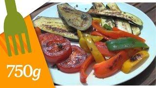 Recette de Légumes grillés à la plancha - 750g