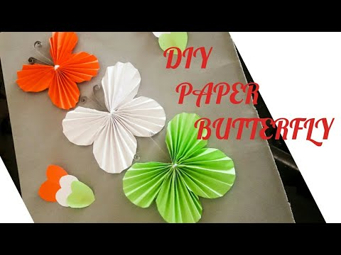 Republic Day Craft Ideas L Diy Tricolour Butterfly Youtube