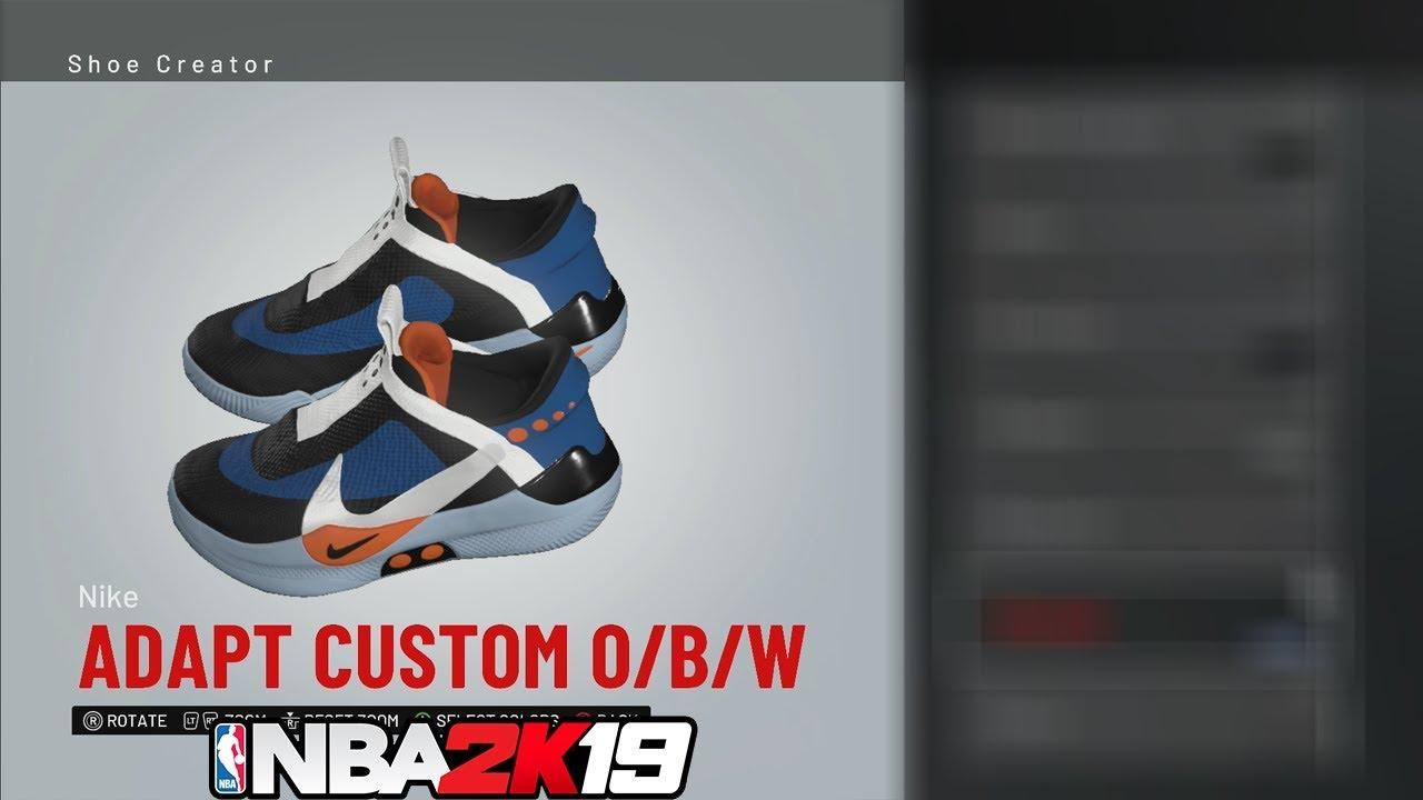 NBA 2K19 Shoe Creator Nike Adapt Custom