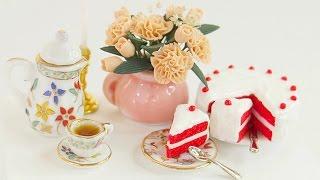 Miniature Dollhouse Red Velvet Cake