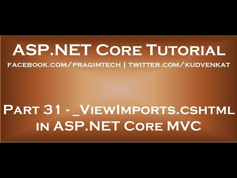 ViewImports Cshtml In ASP NET Core MVC
