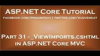 ViewImports cshtml in ASP NET Core MVC