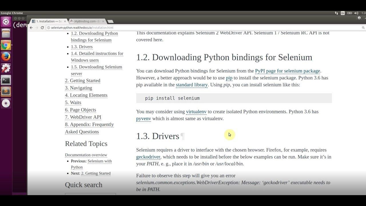 Selenium with Python Demo
