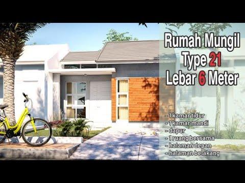Rumah Mungil Type 21 Lebar Lahan Depan 6 Meter - YouTube