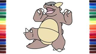 How to draw Kangaskhan from Pokemon step by step