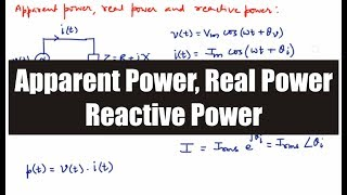 Apparent Power, Real Power and Reactive Power
