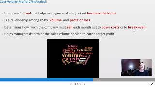 Cost Behavior, CVP, Break Even