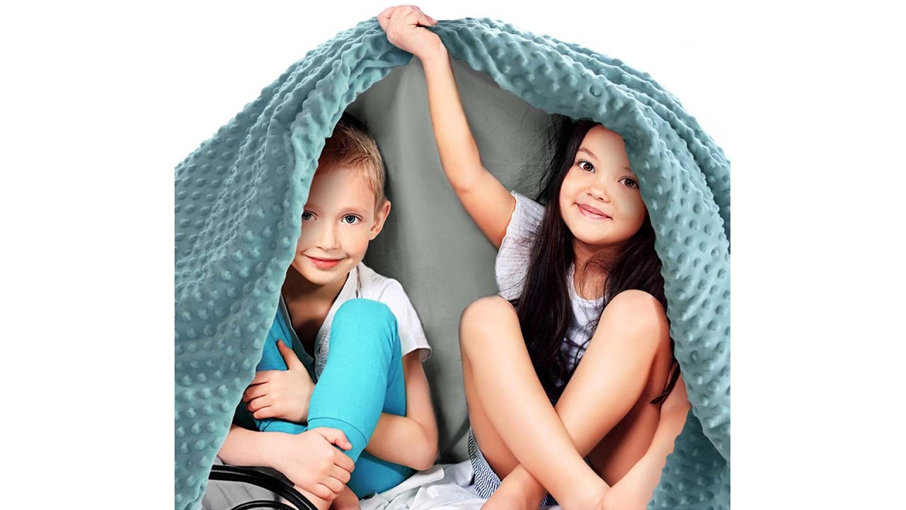 Designed in USA Child Size Bed Luna Kids Weighted Blanket 5 lbs 100/% Oeko-Tex Certified Cooling Cotton /& Premium Glass Beads Light Grey Heavy Cool Weight for Hot /& Cold Sleepers 36x48