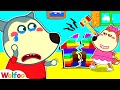 Lucy, Stop Breaking Colorful Lego Playhouse - Wolfoo Learns Good Behavior for Kids   Wolfoo Channel