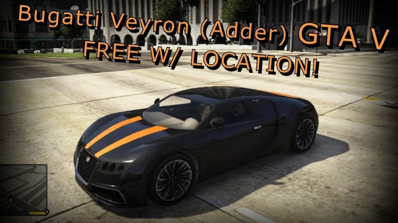 gta 5 bugatti veyron location gta 5 bugatti youtube. Black Bedroom Furniture Sets. Home Design Ideas
