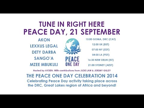 Peace One Day Celebration 2014 AKON